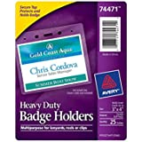 Avery Heavy-Duty Badge Holders for Inserts up to 3 x 4 Inches, Pack of 25 (74471)