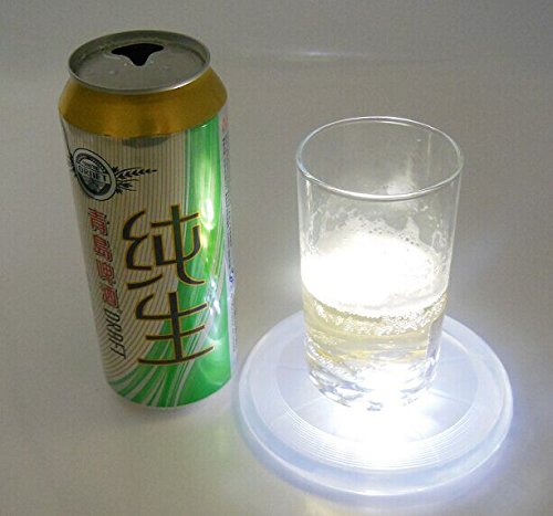 Gift Pro Kitchen Bottle Coaster Bottle Glorifier / LED Light Base Cup Mat Cushion Drinks Tea Cup Pads Bowl Placemat (2, White)