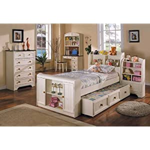 green home palace all wood full size bedroom set