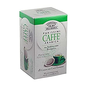 Shop for Compagnia Dell'arabica Pure Arabica Organic ESE Pods 7 g (Pack of 18) - Cotsh