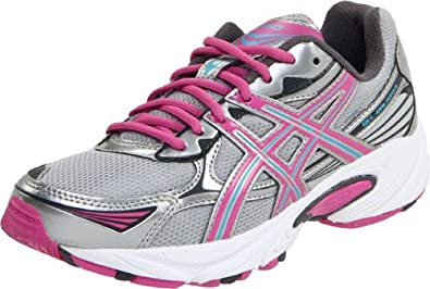 ASICS Kid's GEL-Galaxy 5 GS Running Shoe (Little Kid/Big Kid), White/Candy Pink/Turquoise, 3 M US Little Kid