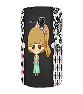 PrintDhaba Cute Doll D-3528 Back Case Cover for SAMSUNG GALAXY S3 MINI (Multi-Coloured)