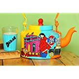 A Krazy Mug: Hand Painted Kettle With Set Of Two Glasses - IM/// Hand Painted Kettle, Hand Painted, Tea Kettle...