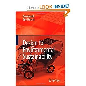 Design for Environmental Sustainability Carlo Arnaldo Vezzoli, Ezio Manzini