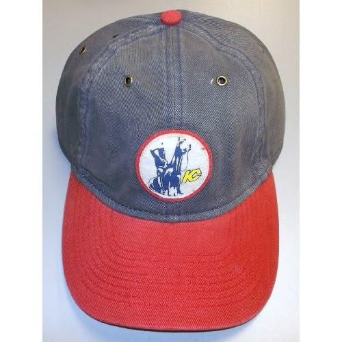 Kansas City Scouts Slouch Strap Back Vintage Hockey Reebok Hat - EM54Z
