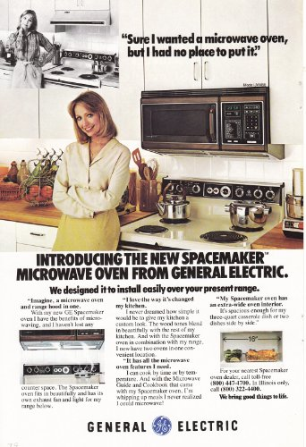 1979 General Electric Spacemaker Microwave, General Electric Print Ad