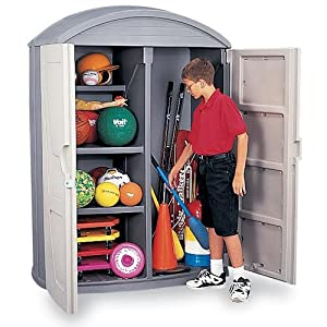 Click to buy LifeScapes Highboy Storage Shed from Amazon!