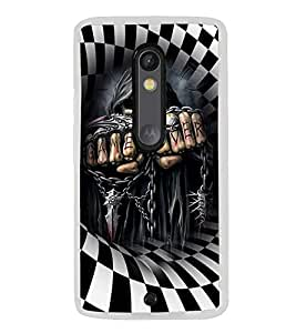 ifasho Designer Phone Back Case Cover Motorola Moto G3 :: Motorola Moto G (3rd Gen) :: Motorola Moto G3 Dual SIM ( Black And Purple Colorful Pattern Design )
