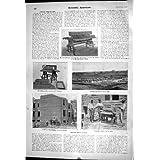 La Impresión Antigua de la Máquina Concreta de la Construcción de Viviendas Ciega al Americano Científico de la...