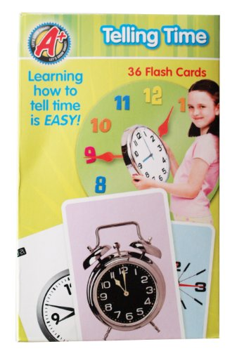 A+ Let's Grow Smart! Telling Time 36 Flash Cards