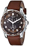 Picture Of Victorinox Men's 241653 Classic Stainless Steel Watch with Brown Leather Band