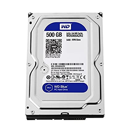 WD Blue WD5000AZRZ 500GB Internal Hard Drive