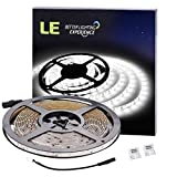 LE-164ft-Waterproof-Flexible-LED-Strip-Lights-300-Units-SMD-3528-LEDs-6000K-Daylight-White-91-Lumensft-15-wattsft-LED-Tape-12V-LED-Light-Strips-For-Gardens-Homes-Kitchen-Cars-Bar