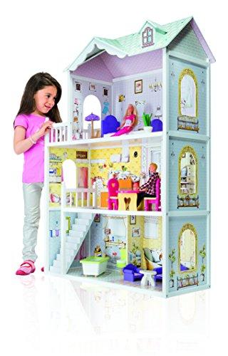 Eichhorn 100002510  Puppenhaus mit Möbeln und Zubehör, bunt