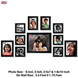 Ajanta Royal Classic set of 11 Individual Photo Frames (6-4x4, 2-4x6, 2-5x7 & 1-8x10) WPC-04