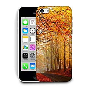 Snoogg Pathway Through The Forest Printed Protective Phone Back Case Cover For Apple Iphone 5C