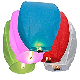 Premium Quality Chinese Flying Sky Lanterns, 14 Pack Assorted 100% Biodegradable, Fully Assembled And Fuel Cell Attached ...