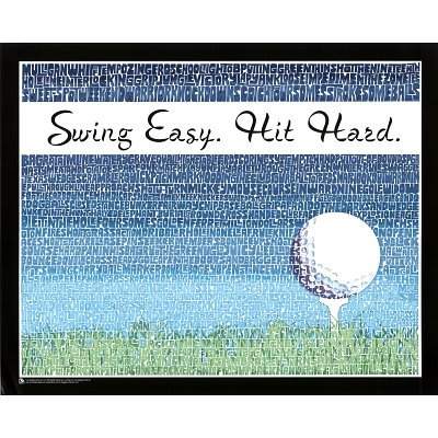 Laminated Swing Easy, Hit Hard (Golf Terms) Sports Poster Print - 16X20