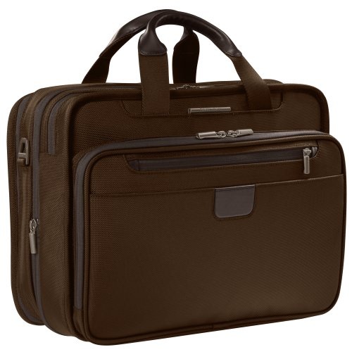 Briggs & Riley 15.4 Inch Executive Expandable Briefcase,Chocolate,12x16x7.3
