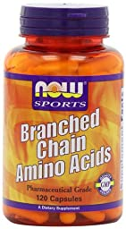 NOW Foods Branch Chain Amino Acids, 120 Capsules