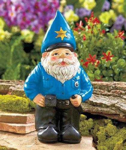 Garden Gnome Policeman Cop Figure