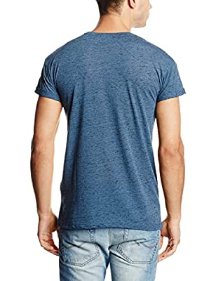 New Look Men's Fabric Interest Crew Short Sleeve T-Shirt