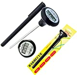 Instant Read MEAT Thermometer - Best Quick Read Digital Cooking Thermometer for All Food, Meat, Turkey, Grill, BBQ, Smoker, Kitchen and Candy - LCD Screen, Long Probe