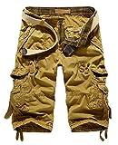 (ラ プレス) la presse メンズ ショート パンツ 無地 ハーフ パンツ 短パン カーゴ パンツ 全5色 カーキ ベージュ レッド グレー ダークグレー (ベージュ(34インチ))