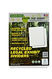 Kleer-Fax Letter-Size Index Dividers, Writeable/Erasable Collated Sets with White Labels, Bottom Tab, 1/6th Cut, White, 4 Banks of 6 Tabs (91206)