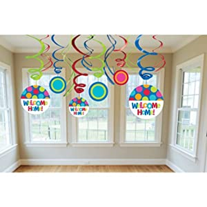 Cabana dot welcome home swirl decorations for Welcome home troops decorations