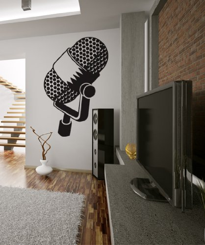 Vinyl Wall Decal Sticker Mic Music Microphone Kriley106S