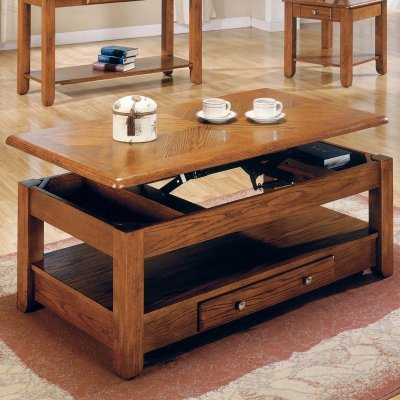 Steve Silver Nelson Lift-Top Cocktail Table with Casters-Oak - NE300CLK