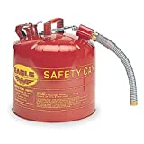"""Eagle U2-51-S Red Galvanized Steel Type II Gas Safety Can with 7/8"""" Flex Spout, 5 gallon Capacity, 13.5"""" Height, 12.5"""" Diameter ~ Eagle"""
