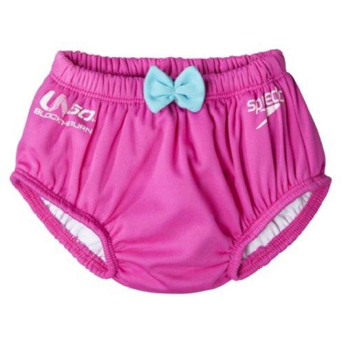 Speedo Girls Swim Diaper (Pink, Small)