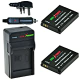 ChiliPower Samsung SLB-10A, SBL-10A Kit: 2x Battery (1050mAh) + Charger (UK Plug) for Samsung ES50, ES55, ES60, EX2F, HMX-U10, HMX-U20, HZ10W, HZ15W, IT100, L100, L110, L200, L210, L310W, M100, M110, M310W, NV9, P800, P1000, PL50, PL51, PL55, PL60, PL65,