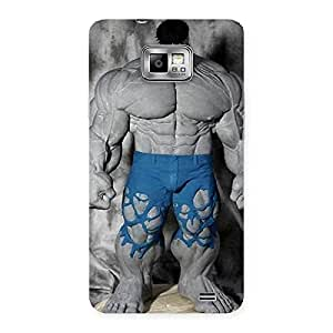 Blue Big Guy Back Case Cover for Galaxy S2