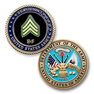 U.S. Army E-5 Sergeant Challenge Coin