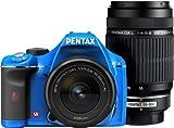PENTAX デジタル一眼レフカメラ K-x ダブルズームキット ブルー/ブラック 036