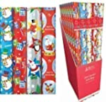 4 x 10m Christmas Wrapping Paper Roll...