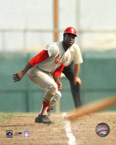 Lou Brock Cardinals Baserunning Color 8x10 Photo at Amazon.com