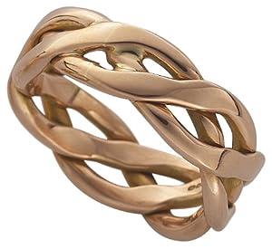 Clogau Gold 9ct Rose Gold Welsh Plait Ring Amazoncouk Jewellery