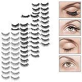 10Pairs New Charming Eye Lashes Handmade Black Thick False Eyelashes (style1)