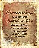 ' Freundschaft ' / Metallschild / Blechschild / Dekoschild /...