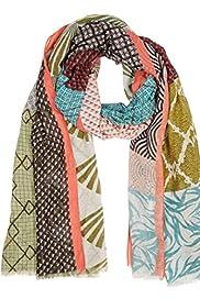 Lightweight Kimono Patchwork Scarf [T01-5642-S]