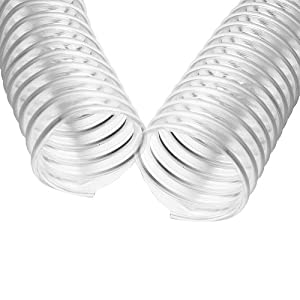 """4"""" x 50' CLEAR PVC DUST COLLECTION HOSE BY PEACHTREE WOODWORKING PW377"""