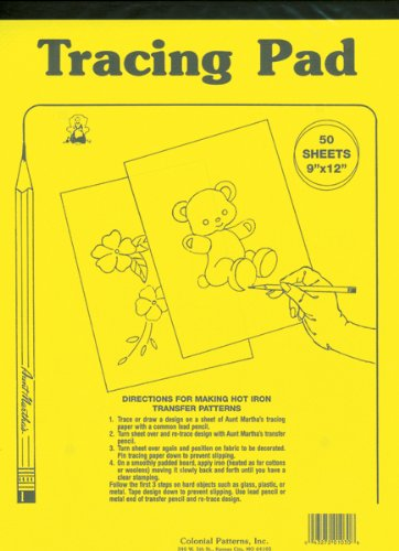 Aunt Martha's 8.5-Inch by 12-Inch Tracing Paper, 50-Sheet (Tracing Sheets compare prices)