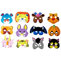 Joyin Toy 24 Pieces Assorted Foam Animal Masks for Birthday Party Favors Dress-Up Costume at amazon