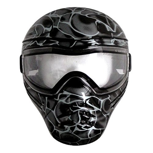 Save Phace Diss Series Intimidator Tactical Mask With Smoke Graphic, Black back-308026