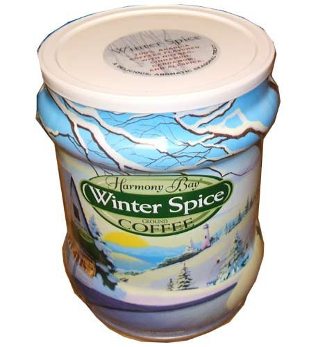 Harmony Bay Winter Spice Ground Coffee 28 Ounce Gift Jar