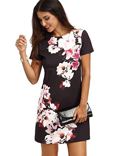 floerns-womens-floral-print-short-sleeve-casual-top-shirt-dress-black-white-m